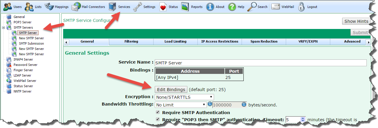 Creating Extra SMTP Services [PSCS Wiki]